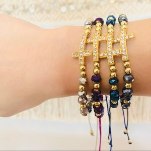 Jewelry - Rhinestone Cross Stack Bracelet ✨
